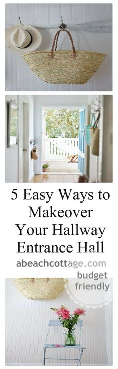 entrance hall hallway makeover ideas - 5 easy ways to makeover your hallway