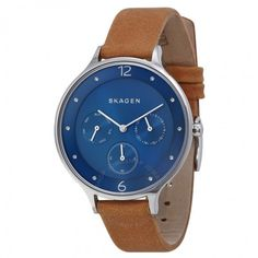 Designer Clothes, Shoes & Bags for Women Tag Watches, Skagen Watches, Casual Watches, Stainless Steel Watch, Tan Leather, Shoe Bag, Lady, Blue, Shopping