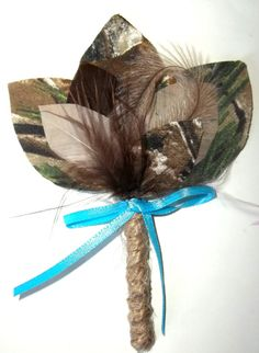wedding camouflage boutonnierebest mangroomgroomsmenfeather hat pinhuntingmens accessorieswedding accessoriesbridal accessories