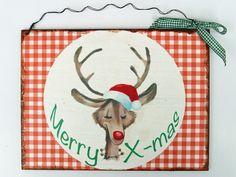 Türschild Weihnachten  von Un-Art-Tick auf DaWanda.com
