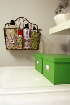 Wire Convertible Basket has a center divider that is removable, so you can use the basket with either one or two sections