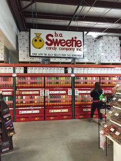 Any type of candy you could ever want or imagine is here. (And it's probably…