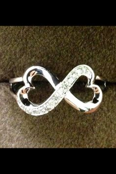 Infinity hearts promise ring - Andrews jewelers
