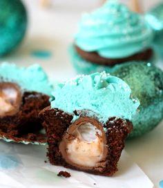 Cadbury Egg Easter Cupcakes