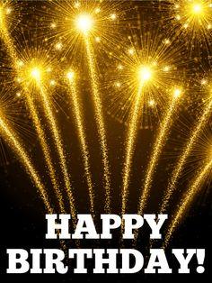 Let's Celebrate! Birthday Fireworks Card