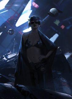 Brilliant Concept Art by Victor Mosquera  #ci-fi #cyberpunk #mujer