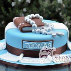 Bildergebnis für torte zur taufe junge Boy Communion Cake, First Holy Communion Cake, Christening Cake Boy, Thomas Cakes, Confirmation Cakes, Ice Cake, Novelty Cakes, Occasion Cakes, Celebration Cakes