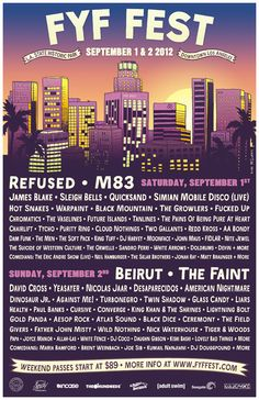 That wonderful FYF Fest time, when Downtown LA's State Historic Park becomes a tiny Coachella; a Coachellina. However, this year, la pequena Coachellina's all growed up, with TWO chock-a-block days of  indie/rock/dance/punk/comedy goodness. (Not to mention the parties.)