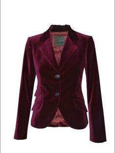 Velvet Blazer for Women Maroon Blazers For Women, Coats For Women, Clothes For Women, Velvet Blazer, Velvet Jacket, Pretty Outfits, Cool Outfits, Professional Outfits, Blazer Fashion