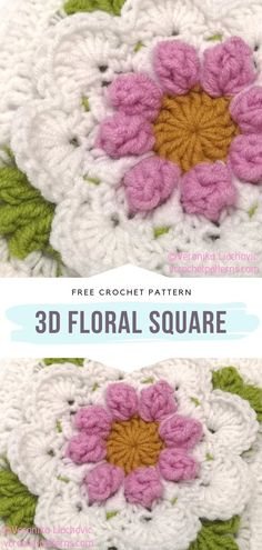 Crochet Square Blanket, Form Crochet, Granny Square Crochet Pattern, Crochet Squares, Crochet Motif, Crochet Flowers, Crochet Patterns, Crochet Granny, Granny Squares