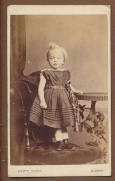 A lil cutie from England in the 1860s most likely a boy