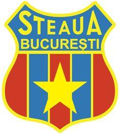 Steaua Bucuresti old logo 1972-1991 În 1971, în toamnă, Steaua a întîlnit-o pe FC Barcelona, în turul 2 al Cupei Cupelor. Steaua a făcut două meciuri formidabile: a bătut 1-0 pe Camp Nou şi 2-1. Le-a plăcut foarte tare stema Barcelonei. S-a dat imediat ordin ca Steaua să schimbe sigla şi cea nou apărută aproape că e identică după cea a grupării catalane. Camp Nou, Fc Barcelona, Badge, Soccer, Butterflies, Club, Design, Bucharest, Romania