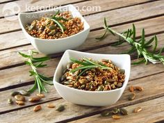Rosemary roasted seeds (low-carb, paleo). One of 238 recipes from KetoDiet for the iPad and KetoDiet Basic for the iPhone (excludes the Kindle book).