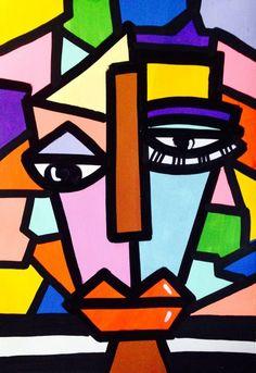 Abstract Face Art, Abstract Sculpture, Sculpture Art, Fond Pop Art, Cubist Art, Street Art, Picasso Art, Art Moderne, Aesthetic Art