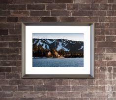 BIG BEAR LAKE California - Landscape Photograph - Mountain, Ski Resort, Lake Houses, Picture