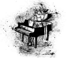 Piano klavír pohyblivý animovaný obrázek gif animace Animated Scribble zdarma stažení Piano, It Cast, Animation, World, Art, Art Background, Kunst, Pianos, Animation Movies