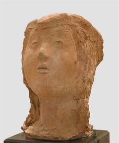 Martini Arturo (Italy 1889–1947), Head of a Jewish Girl, terra-cotta, ca. 1931. Collection Galleria d'Arte Moderna a Ca' Pesaro, Venice.