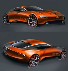 Daily Sketch: Opel GT Concept Studies by Radovan Varicak Sketch gallery: