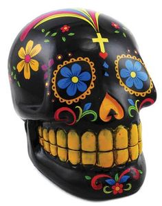 Sculpted of cold cast resin, this Green Day of the Dead Skull Box is a beautiful…