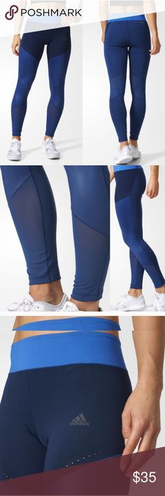 Adidas climalite tights Mesh calf area, great color scheme and style. Too tight for me. adidas Pants Leggings