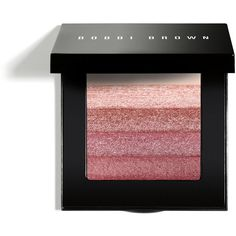 Bobbi Brown ROSE SHIMMERBRICK (£37) ❤ liked on Polyvore featuring beauty products, makeup, cheek makeup, blush, blender brush, bobbi brown cosmetics and blending brush