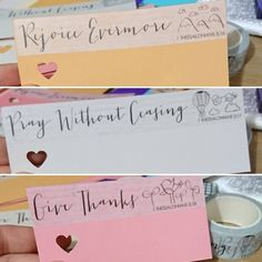 handmade gift tags or can be used as a bookmark. washi tape from projectencourage.net Handmade Gift Tags, Give Thanks, Washi Tape, Place Cards, Place Card Holders