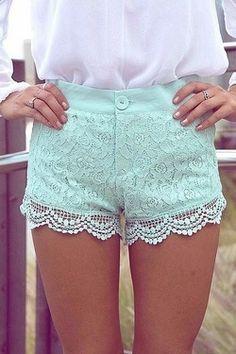 Pastel Lace shorts