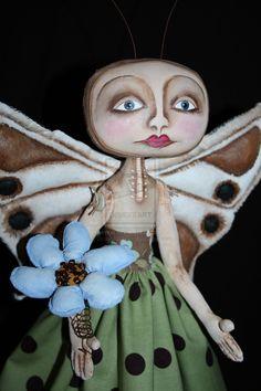 Butterfly Doll Blue Flower by *2truecreatives on deviantART