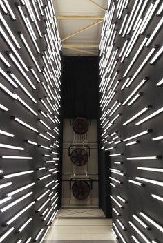 COM led lights solar lights led strip lights outdoor stores Funky Lighting, Club Lighting, Lighting Concepts, Strip Lighting, Lighting Design, Tent Design, Stage Design, Light Tunnel, Corridor Lighting
