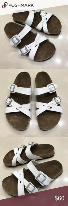 Authentic Birki's by Birkenstock leather sandals 8 Authentic Birki's by Birkenstock leather sandals 8 Euro 39 very good condition few light marks on leather super nice sandals Birkenstock Shoes Sandals