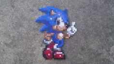 Sonic the Hedgehog Perler Bead Sprite by OverworldCreations