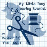 A free pattern to make a My Little Pony style plushie. All I ask is credit for the original pattern. Page 2: Tutorial:
