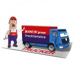 TruckService est. 1956 - Past-Present-Future -3 companies and one logo- KOUSgroup (TRUCKSERVICE - TRUCKER - KOUSGROUP) the double 20 decade logo! THIS IS IT !!!