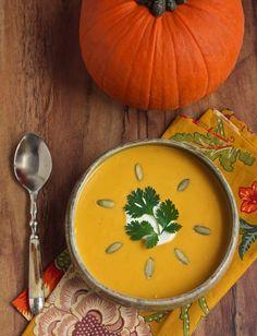 Easy Pumpkin Chipotle Soup - Low Carb & Gluten Free - I Breathe. I'm Hungry. Pumpkin Soup, Pumpkin Recipes, Fall Recipes, Soup Recipes, Pumpkin Puree, Recipies, Low Carb Recipes, Cooking Recipes, Healthy Recipes
