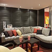 Comfortable furniture in the basement Basement Plans, Basement Remodeling, Basement Stairs, Basement Ideas, Basement Shelving, Basement Conversion, Basement Furniture, Mid Century Modern Furniture, Conception