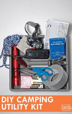 Put together a simple camping utility kit with this checklist and make sure you always have emergency items at the ready. #camping