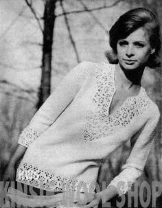 "PDF Pattern - Vintage Hippie Crochet ""DASHIKI"" Tunic Pattern - India - UK (pattern $3.20)"
