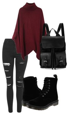 """Untitled #23"" by megsgalley on Polyvore featuring Topshop, Dr. Martens, Aspinal of London, women's clothing, women's fashion, women, female, woman, misses and juniors"
