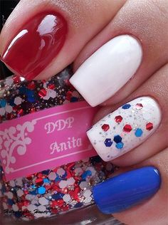 15 Easy  Simple Fourth Of July Nail Art Designs, Ideas, Trends  Stickers 2014 | 4th Of July Nails
