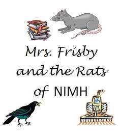 Free worksheets for Mrs. Frisby and the Rats of NIMH. Vocab, questions ...