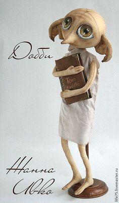 """Коллекционные куклы ручной работы. Заказать Добби""""Гарри Поттер"""" (повтор). Жанна Ивко Zhanna Ivko. Ярмарка Мастеров. Доби"""