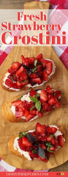 Strawberry Basil Crostini are the most delicious way to highlight sweet ripe strawberries at the peak of their season. Toasted slices of Baguette are slathered with Crème Fraîche, then topped with the sweetest, ripest summer Strawberries, fresh Basil, and Pink Peppercorns. Summer in one bite! Appetizer Dips, Appetizer Recipes, Real Food Recipes, Yummy Food, Friend Recipe, Healthy Dips, Make Ahead Lunches, Fresh Basil, Baking Tips