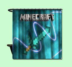 Minecraft Mine Craft Personalized Custom Shower by LzieShowerC