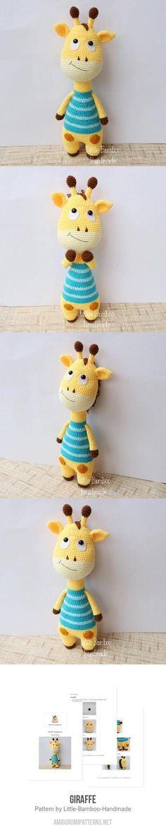 Giraffe amigurumi pattern Amigurumi Animals, Crochet Animal Amigurumi, Amigurumi Toys, Crochet Animals, Amigurumi Patterns, Crochet Patterns, Crochet Crafts, Crochet Toys, Crochet Baby