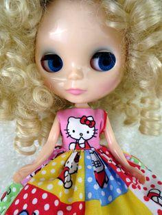 #Blythe. Blythe Dress. Hello Kitty Blythe by TheDollsDresser, $20.00
