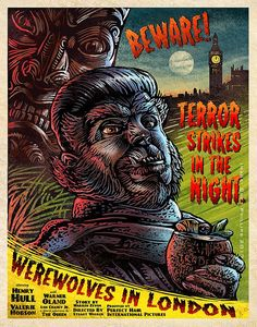 Werewolves in London 11 x 14 Limited Edition Signed Print