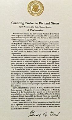 This is President Ford's Proclamation granting a pardon to former President Nixon.