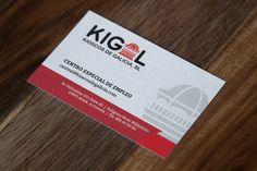 Diseño de tarjetas de visita para Kigal, Kioscos de Galicia #Diseño #Design #Yeti #Galicia