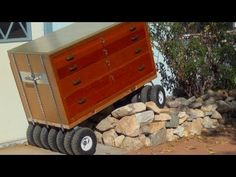Built Monster TOOL BOX ~ 13 Wheel All Terrain Wooden Roll-away ~Review &...