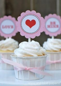 valentine's day toppers printables
